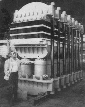 FlexiFlor Press in 1930s