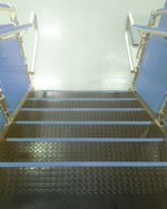 FlexiFlor Rubber Stair Treads in Indoor Play Park