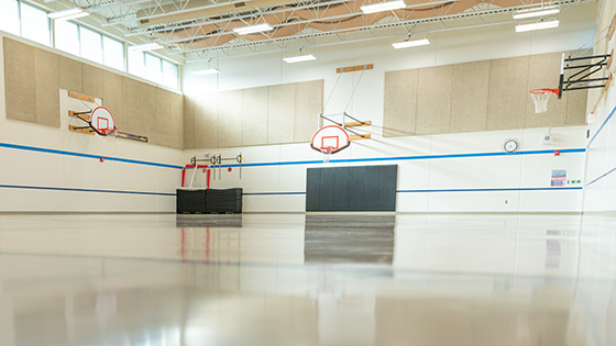 FlexiFlor Premium Sheet Rubber Flooring in Gym