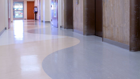 FlexiFlor Premium Sheet Rubber Flooring in Hospital