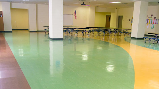 FlexiFlor Premium Sheet Rubber Flooring in School